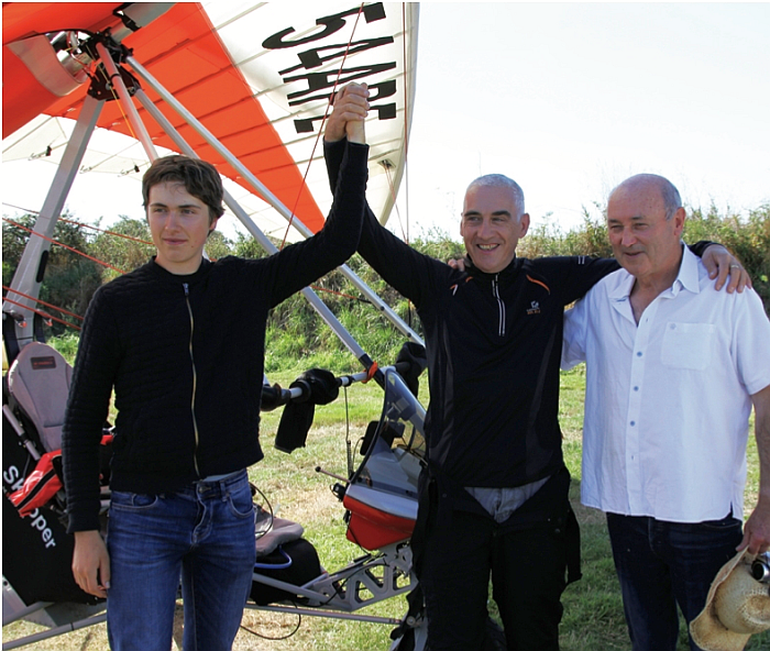 Colin Fargher's microlight distance record ratified by the FAI.