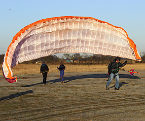 Paraglider parascending (Courtesy Pete Brunt)